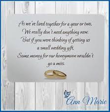 wedding gift honeymoon fund 10 personalised wedding money poem gift poem cards honeymoon