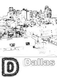 d is for dallas coloring page