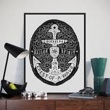 Anchor Print Inspirational Print Quot - nordic minimalist black white motivational typography anchor
