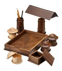 Wood Desk Accessories Lutyens Contemporary Desk Accessories Contemporary Traditional
