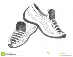 drawn shoe sport shoe pencil and in color drawn shoe sport shoe