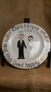 painted wedding plates personalized custom the mud hut