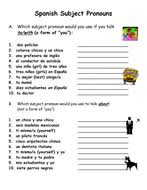 spanish subject pronouns practice u0026 worksheet by suesummersshop