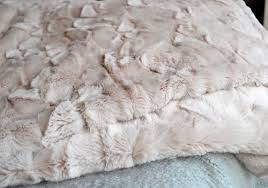 Restoration Hardware Faux Fur White Fluffy Throw Blanket Faux Fur Throw Mole Grey Ivory White