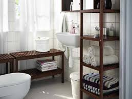 bathroom retro bathroom interior with wood tower rack also white
