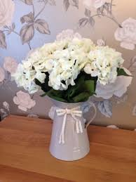 Shabby Chic Flower Arrangement by Artificial Hydrangea In Jug Flower Arrangement Shabby Chic Vintage