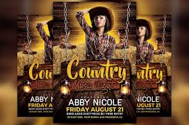 template flyer country free country music night flyer template flyer templates creative market