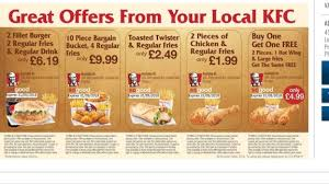 printable vouchers uk kfc printable vouchers via voucherpacks hotukdeals