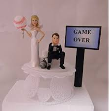 baseball wedding cake toppers baseball wedding cake topper custom made to order
