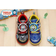 thomas the train light up shoes thomas the tank engine kid s comfy light up sneakers shoes led car