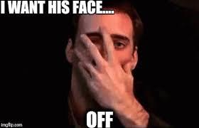 Nicolas Cage Face Meme - nicholas cage face off imgflip