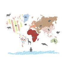 Etsy World Map by Nursery Wall Vinyl World Map Wall Decal By Wallartdesign On Etsy