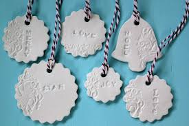 thom haus handmade simple to make pressed clay christmas decorations