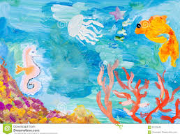 underwater world of the coral reef stock illustration image