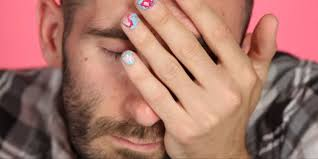 thanksgiving nail art tutorial men try pinterest nail art tutorials funny pinterest manicure fails