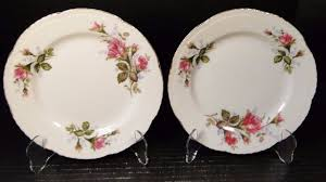 bond china pompadour two bond china pompadour salad plates 7 1 2 l m set of