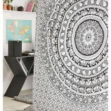 indian hippie mandala tapestry elephant wall hanging bedspread