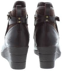 lyst ugg uptown emalie leather wedge boots in black ugg emalie wedge boot cheap watches mgc gas com