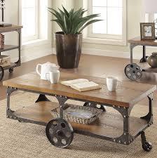 Rustic Wood And Metal Coffee Table Industrial Cart Coffee Table Vintage Rustic Wood Metal Factory