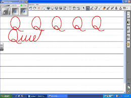 uppercase cursive q youtube