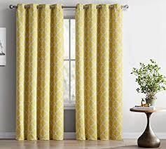 Amazon Thermal Drapes Amazon Com Hlc Me Lattice Print Thermal Insulated Blackout