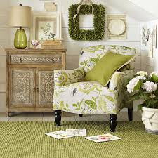 Green Armchairs Frankie Cream U0026 Green Floral Armchair Pier 1 Imports