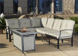 Patio Furniture With Fire Pit Set - amazon com cosco outdoor serene ridge aluminum propane gas fire