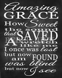 8x10 printable art print chalkboard style amazing grace quote