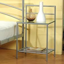 silver metal nightstand steal a sofa furniture outlet los angeles ca