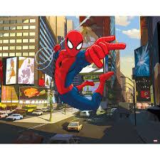 walltastic ultimate spider man wallpaper mural 8ft x 10ft boy s walltastic ultimate spider man wallpaper mural 8ft x 10ft