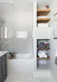 small tiled bathroom ideas bathroom white subway tile mosaic floor tile glass shower tub