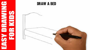 draw a bed easy and simple for kids in 60s youtube