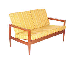 mid century modern danish teak sofa by borge jensen settee for