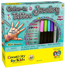 amazon com creativity for kids color in tattoo toys u0026 games