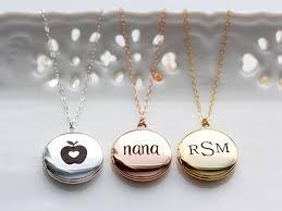 custom engraved lockets personalized locket necklace medium engraved locket necklace