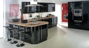 cuisine noir laqué cuisine noir laque cuisine noir laquac plan de travail bois