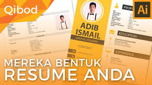 Sample Resume Yang Terbaik by Qibod Adobe Illustrator Membuat Resume Youtube