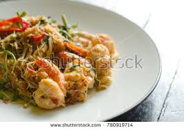 mimosa cuisine cuisinespicy stirfried rice vermicelli water stock photo