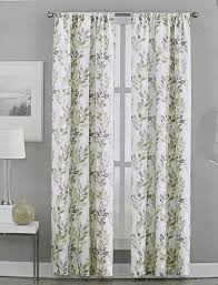 Grey Beige Curtains Dkny City Vine Leaves Road Pocket Curtains 100 Cotton