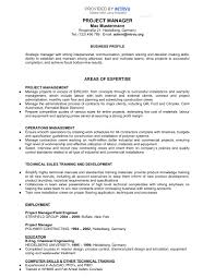 german resume sample sample resumes intrvu project manager