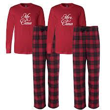 mr and mrs claus flannel pajamas pajamas flannel
