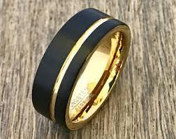 matte black mens wedding bands matte black ring etsy