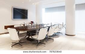 Modern Meeting Table Modern Meeting Room Meeting Table Furniture Stock Illustration