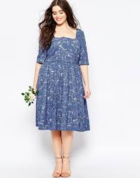 asos wedding prom dress in lace in blue lyst