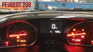 peugeot 208 peugeot 208 reset service oil light youtube