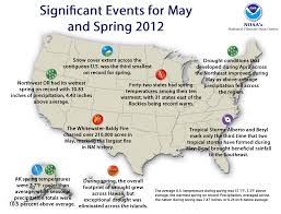 United States Storm Map by National Climate Report May 2012 State Of The Climate
