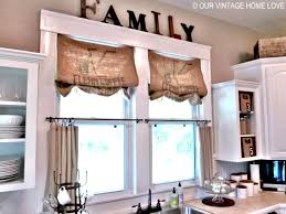 Country Living Room by Kitchen Accessories Impressive Diy Kitchen Window Treatment Ideas