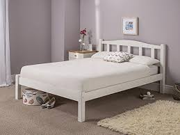snuggle beds amberley white wooden solid slatted 3ft single bed