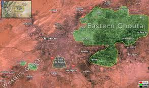 Syria War Map by Syrian Army Gains The Upper Hand In The Battle Of Damascus Map