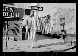 Brooklyn Flag American Flag U2013 Black And White Street Photographs Of New York